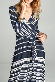 Love Kuza Striped Venechia Wrap Dress - Back cropped