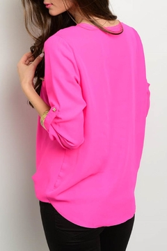 Love Letter Fuchsia Neon Blouse - Alternate List Image