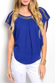 Love Letter Royal Gold Top - Front cropped
