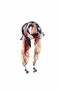 Love of Fashion American Flag Scarf - Alternate List Image