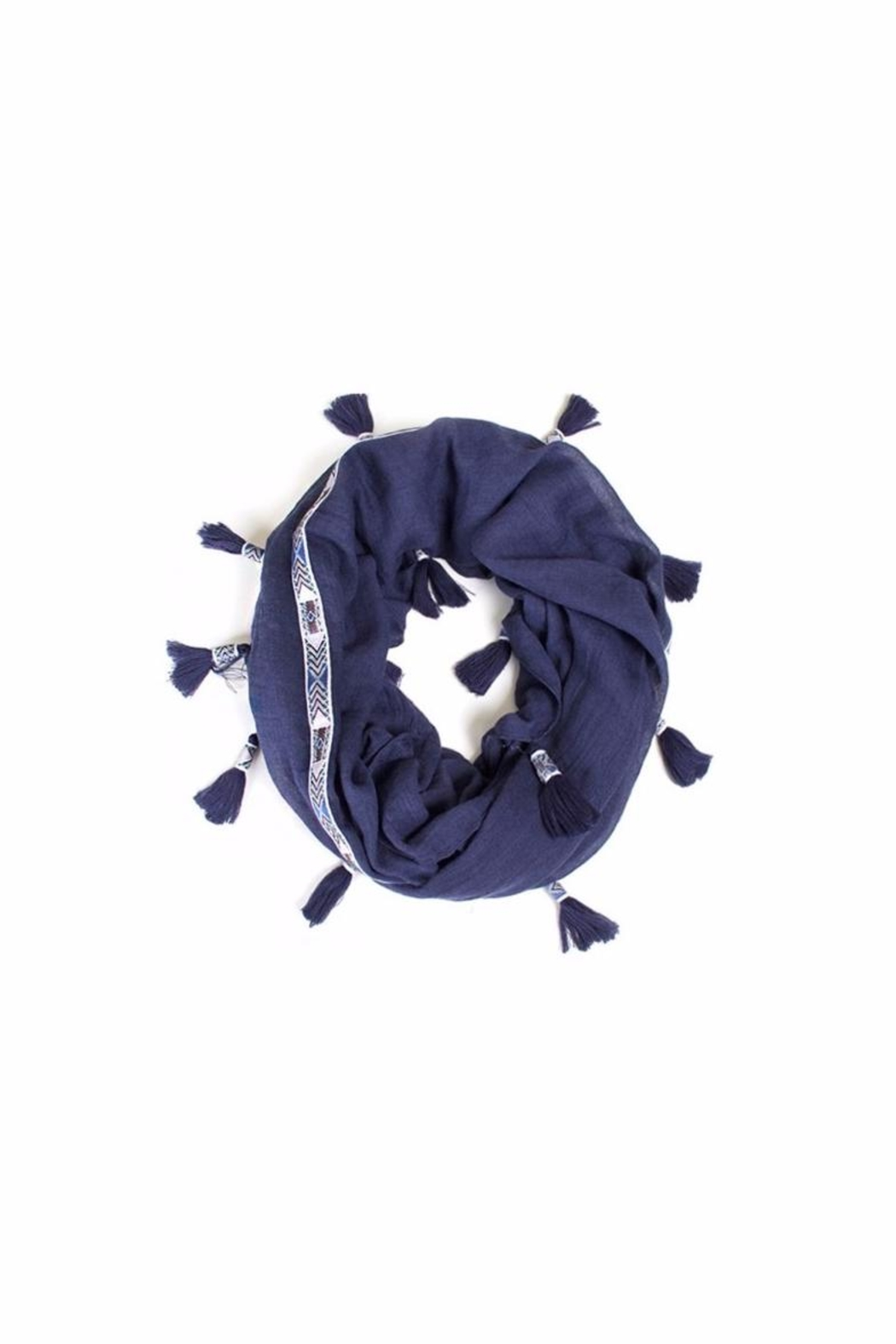 Love of Fashion Aztec Infinity Scarf - Front Cropped Image