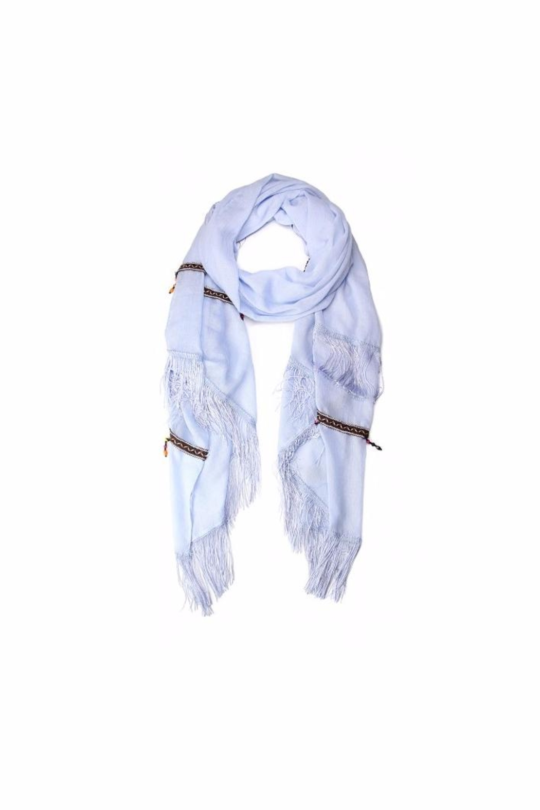 Love of Fashion Bead & Tassel Scarf - Main Image