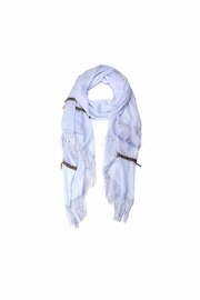 Love of Fashion Bead & Tassel Scarf - Front cropped