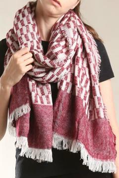 Shoptiques Product: Burgundy Patterned Scarf