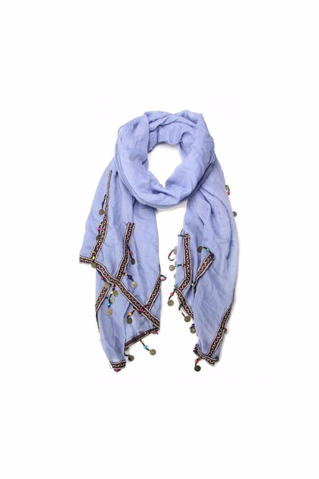 Love of Fashion Coins And Beads Scarf - Main Image