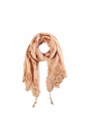 Love of Fashion Crochet Trim Scarf - Product Mini Image
