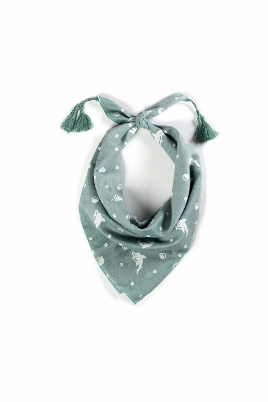 Love of Fashion Dolphin Bandana Scarf - Front Cropped Image