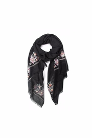 Love of Fashion Embroidered Flower Scarf - Front cropped