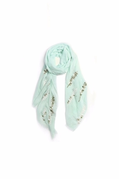 Love of Fashion Embroidered Leaf Scarf - Alternate List Image