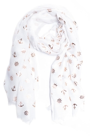Love of Fashion Foil Nautical Scarf - Front cropped