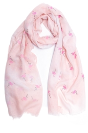 Love of Fashion Glitter Flamingo Scarf - Front cropped