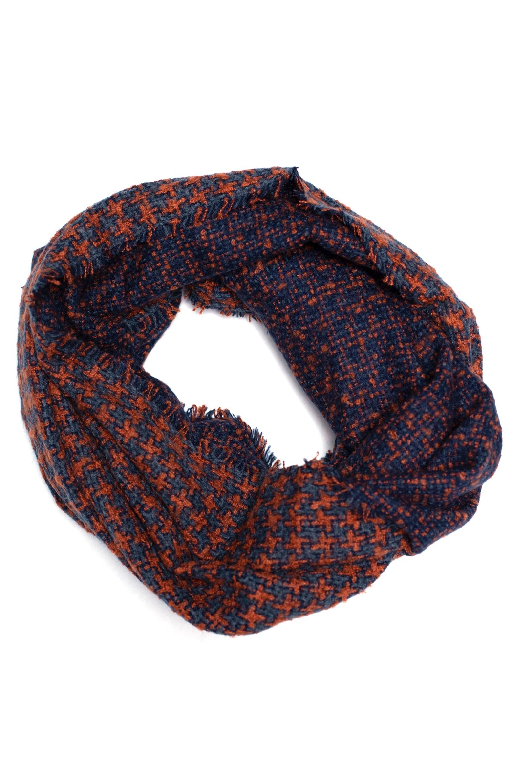 Love of Fashion Houndstooth Infinity Scarf - Main Image