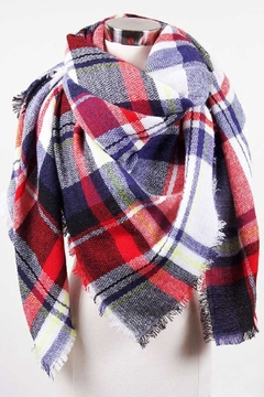 Love of Fashion Plaid Blanket Scarf - Product List Image