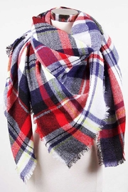 Love of Fashion Plaid Blanket Scarf - Product Mini Image