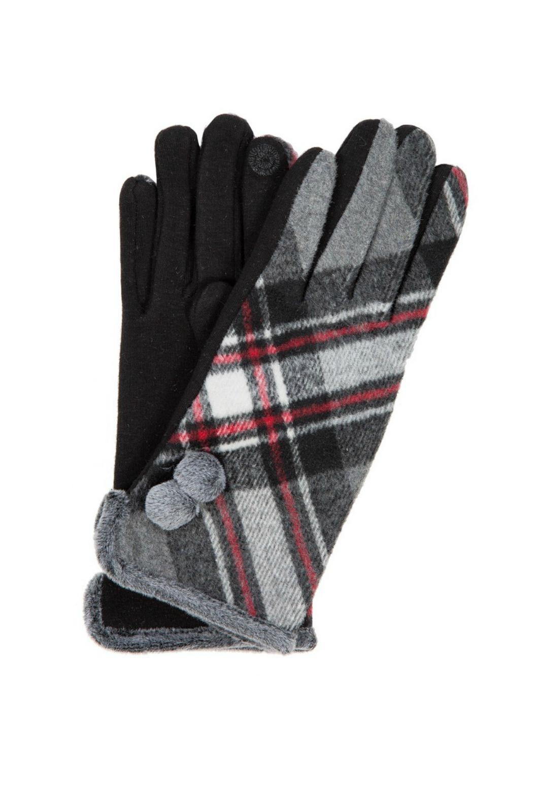 Love of Fashion Plaid Touchscreen Gloves - Main Image