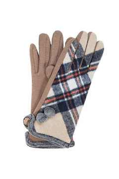 Love of Fashion Plaid Touchscreen Gloves - Alternate List Image