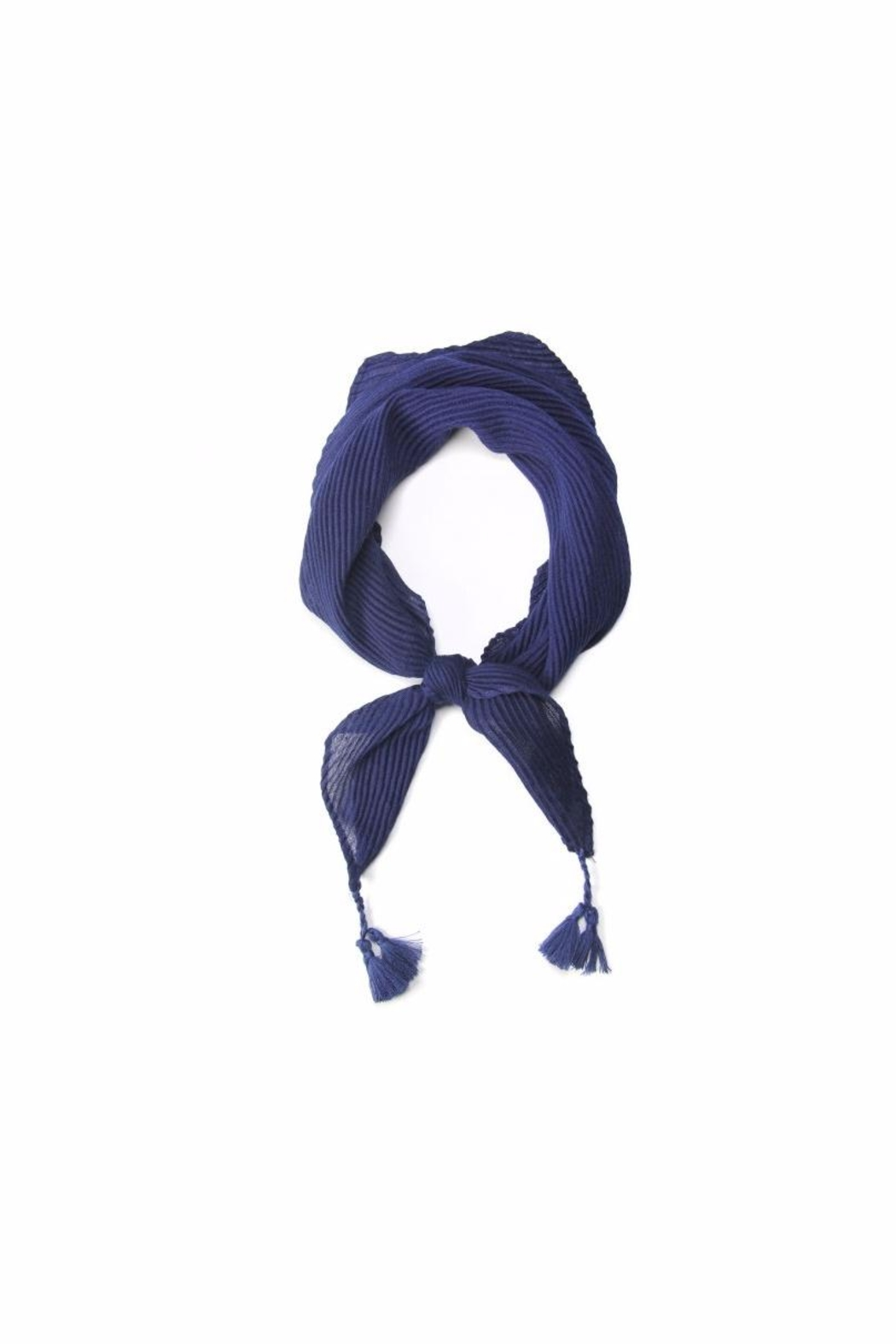 Love of Fashion Pleated Bandana Scarf - Front Cropped Image