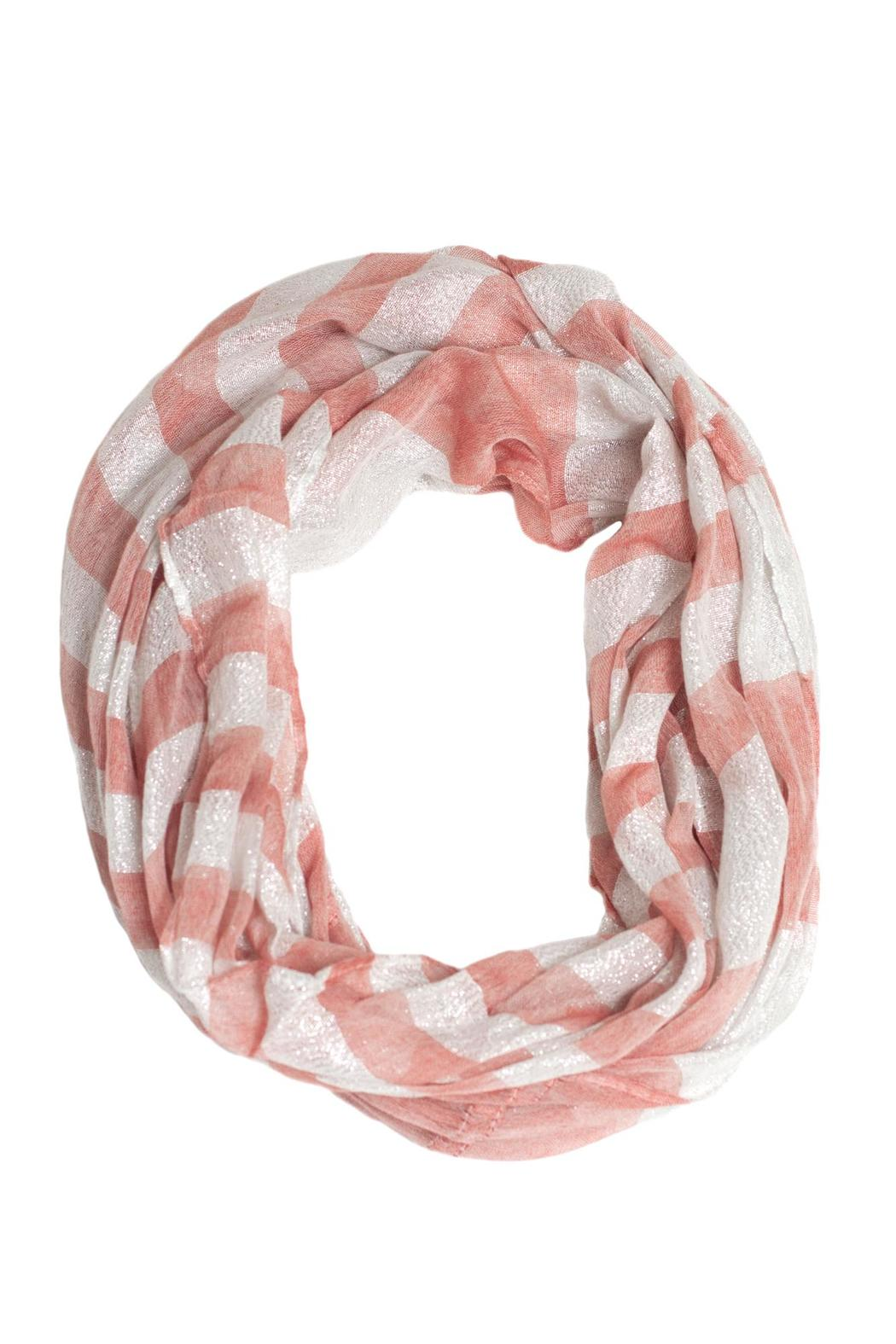 Love of Fashion Striped Shimmer Scarf - Main Image
