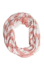 Love of Fashion Striped Shimmer Scarf - Front cropped