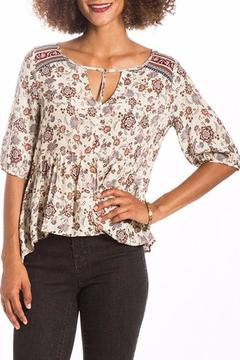 LOVE ON A HANGER Floral Fusion Peplum Top - Product List Image
