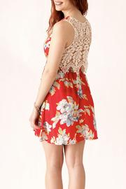 Love Point Floral Crochet Dress - Back cropped