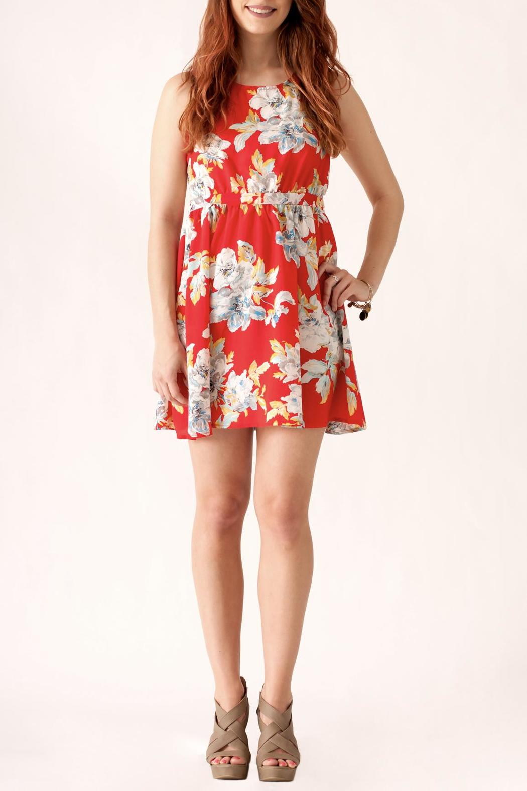 Love Point Floral Crochet Dress - Front Cropped Image