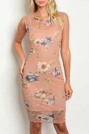 Love Republic Nude Floral Dress - Product Mini Image