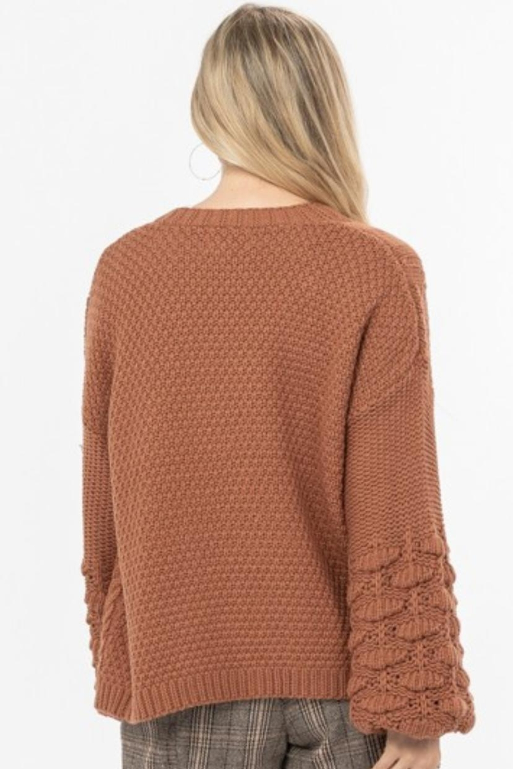 Love Richie Camel Sweater Cardigan - Side Cropped Image