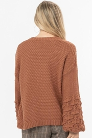 Love Richie Camel Sweater Cardigan - Side cropped