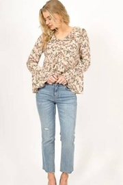 Love Richie Floral Bell-Sleeve Top - Front full body