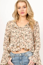 Love Richie Floral Bell-Sleeve Top - Front cropped