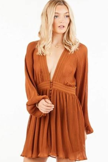 Love Richie Pleated Mini Dress from Los Angeles by Chikas — Shoptiques