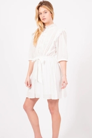 Love Richie White Cotton Dress - Side cropped