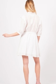 Love Richie White Cotton Dress - Back cropped