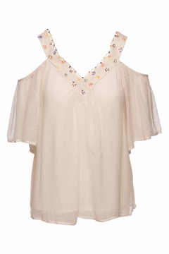 Love Sam Cold Shoulder Blouse - Product List Image