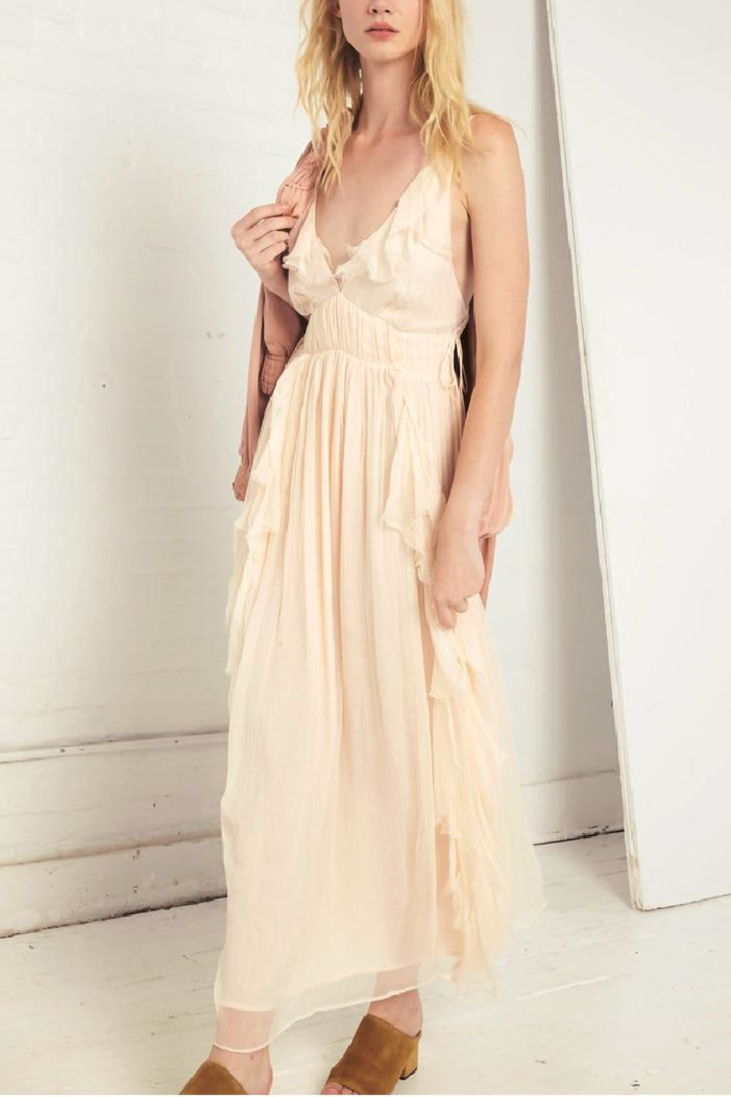 Love Sam Ruffle Maxi Dress - Front Cropped Image