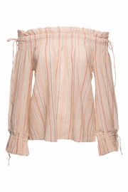 Love Sam Smocked Tassel Blouse - Front cropped