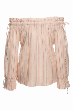 Love Sam Smocked Tassel Blouse - Alternate List Image