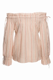 Love Sam Smocked Tassel Blouse - Front full body