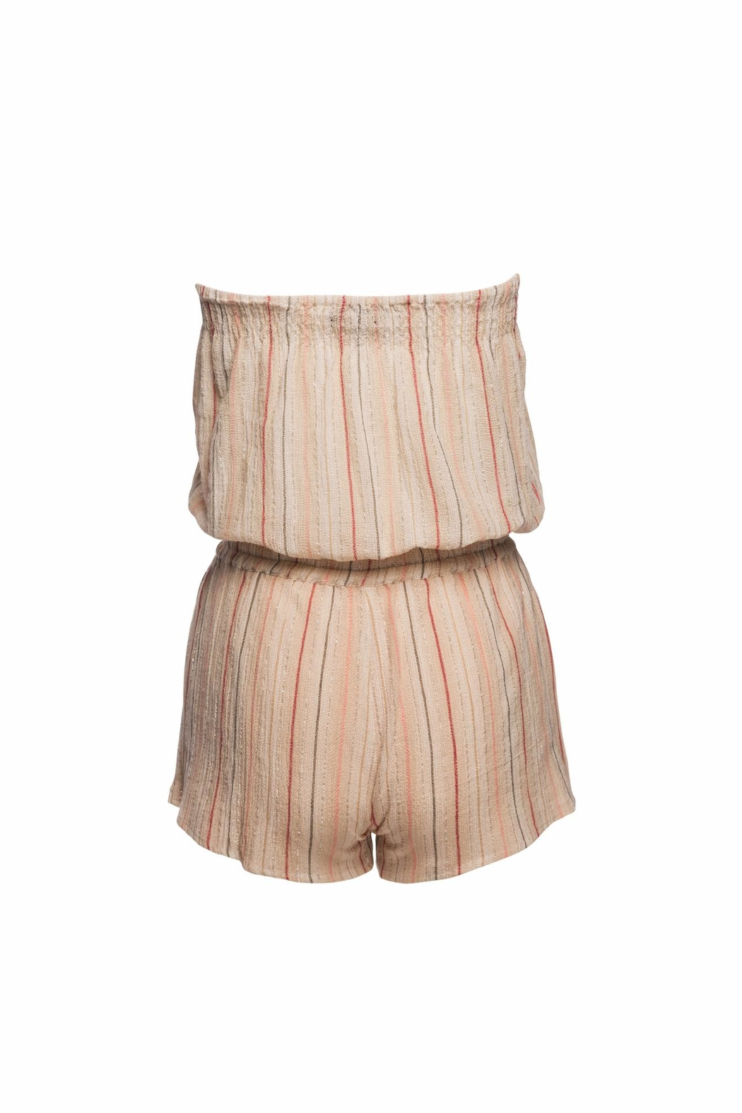 Love Sam Tassels Strapless Romper - Side Cropped Image