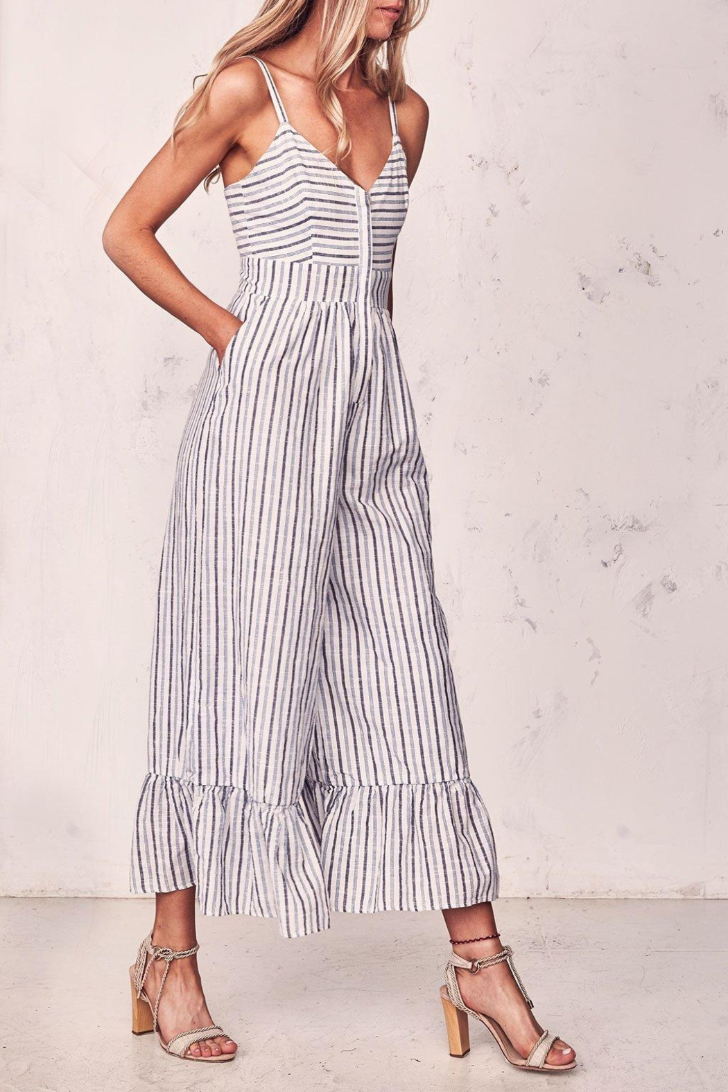 love shack fancy Edeline Jumpsuit - Side Cropped Image