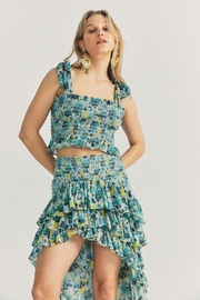 Love Shack Fancy Norleen Cropped Top - Front full body