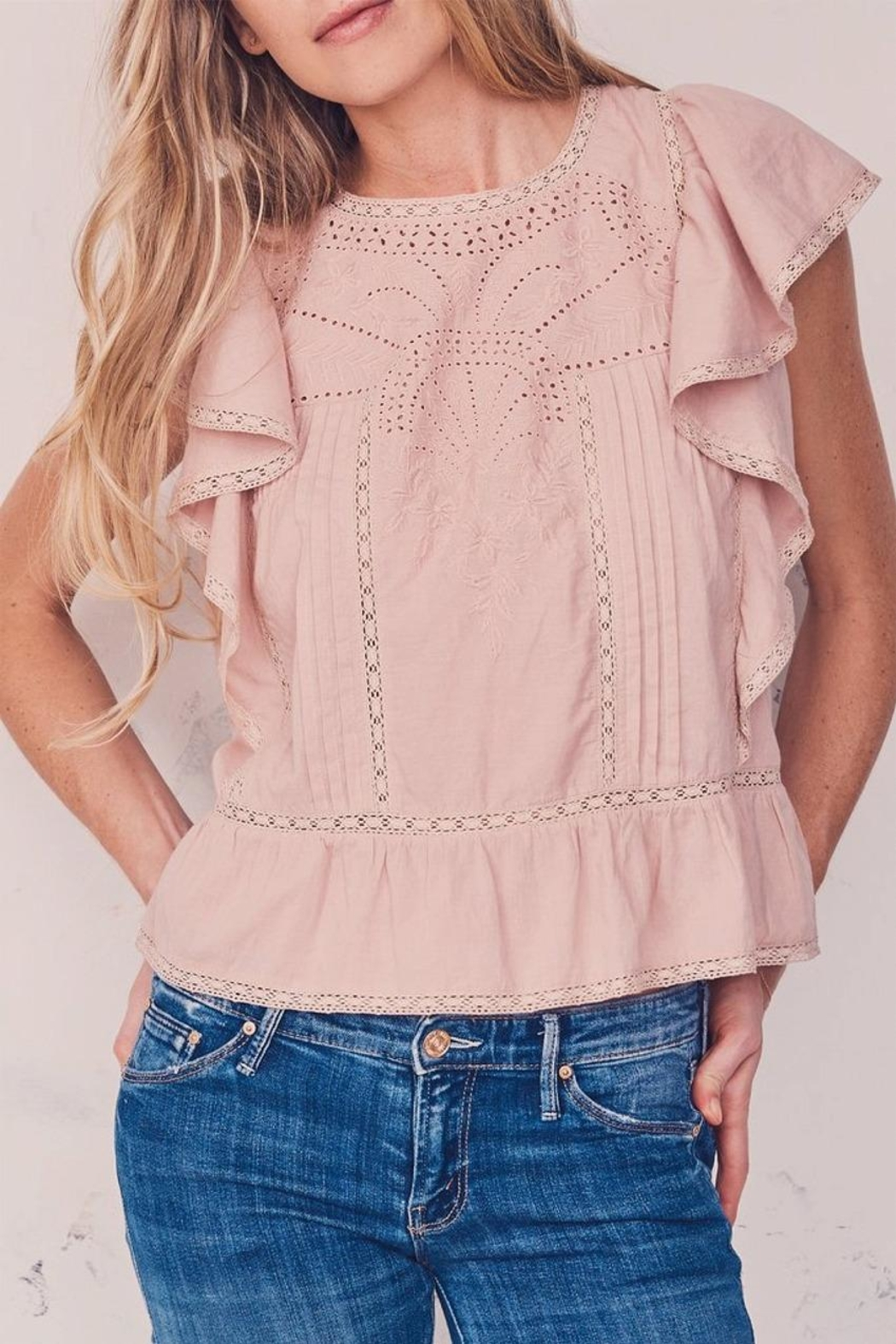 love shack fancy Rosemary Top - Front Cropped Image