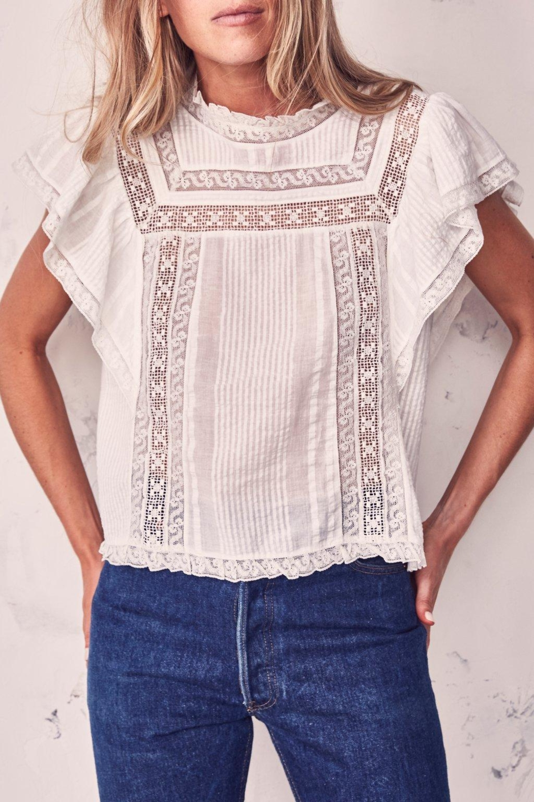 love shack fancy Victorian Sahara Top - Front Cropped Image