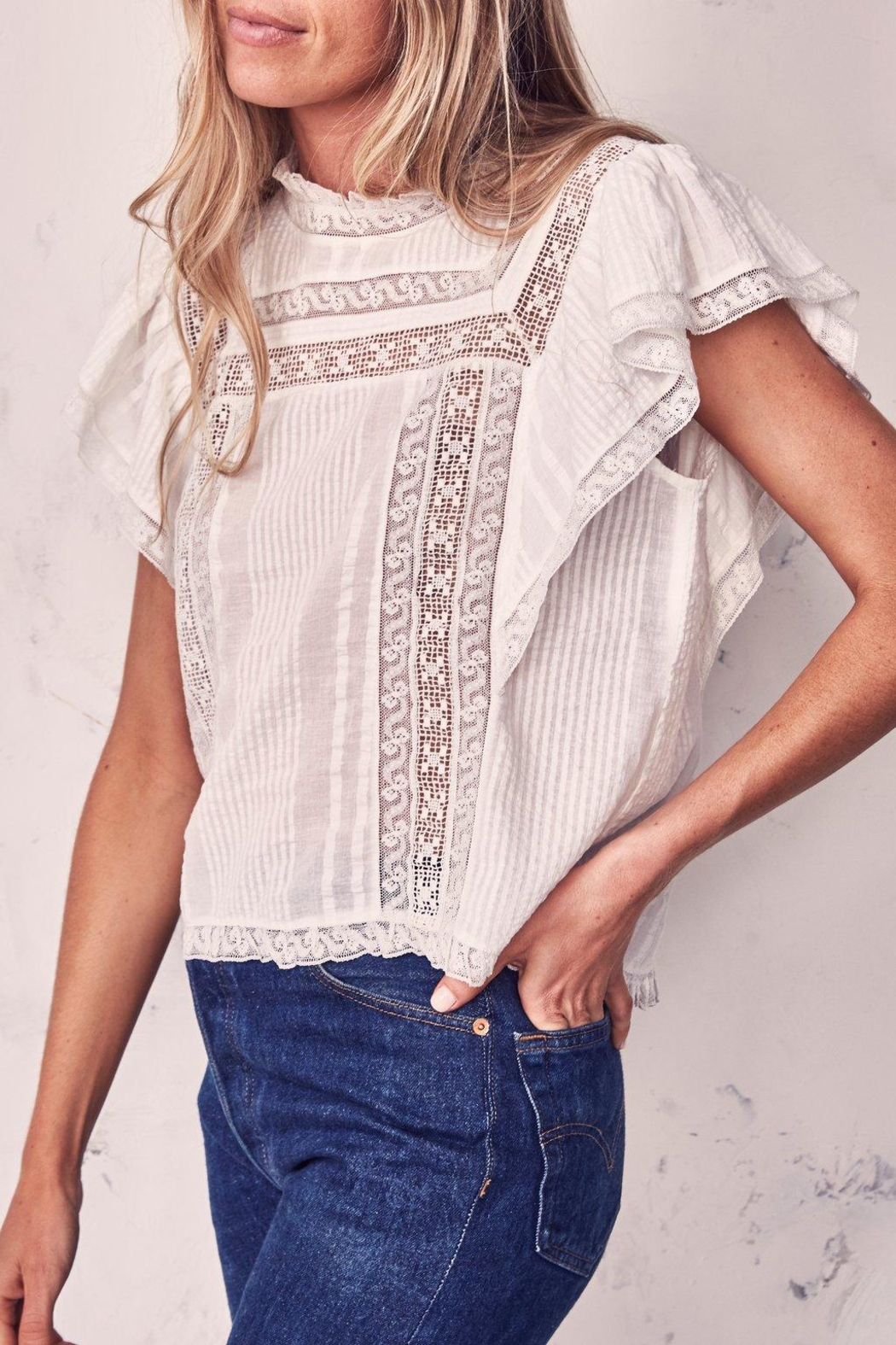 love shack fancy Victorian Sahara Top - Front Full Image