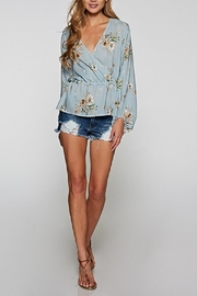Love Stitch Blue Floral Top - Front full body