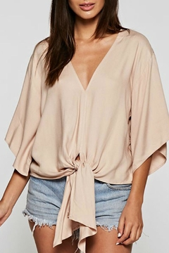 Shoptiques Product: Blush Tie-Front Top