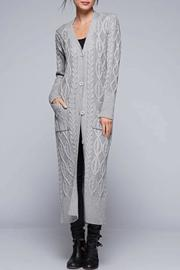 Lovestitch Cable Knit Maxi Cardigan - Product Mini Image