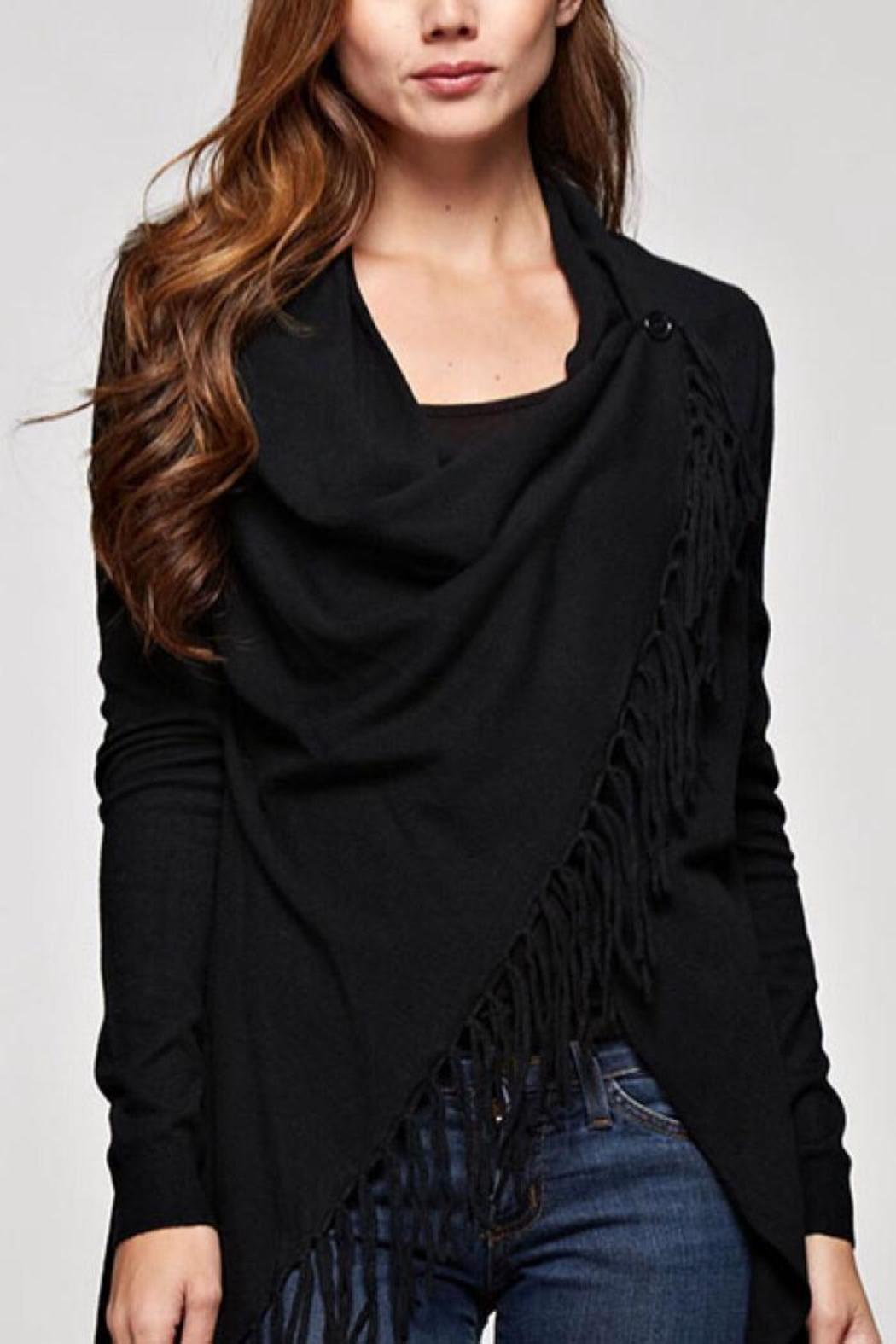 Lovestitch Fringed Wrap Cardigan - Main Image