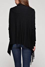 Lovestitch Fringed Wrap Cardigan - Front full body